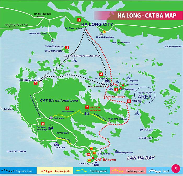 越南下龙湾地图-广西北海旅行社|越南旅游|北海旅游