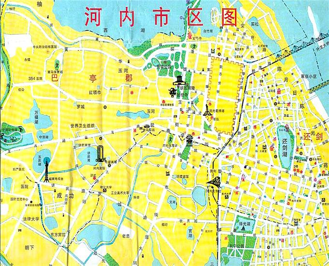 越南河内市地图