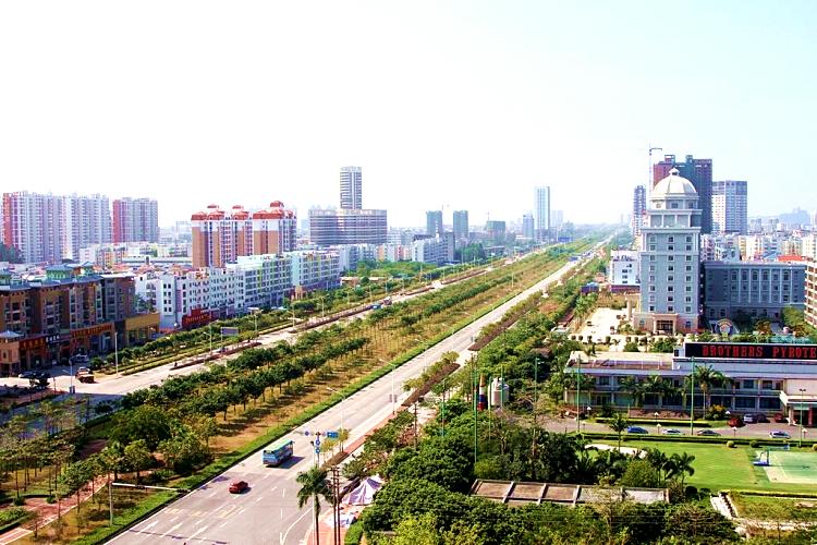北海火车站广场大景