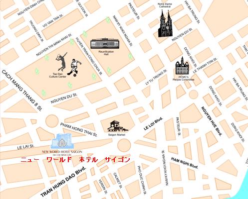 越南胡志明市旅游地图