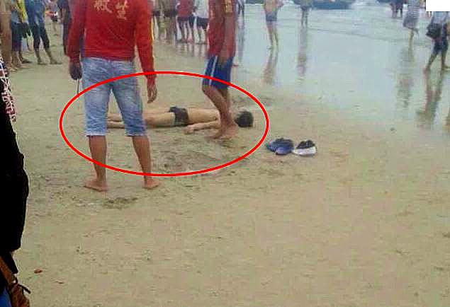 北海大学生在银滩广东v医生溺水死亡给医生美女男接生图片