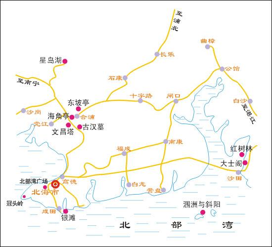 越南旅游地图                         (下龙湾,河内,西贡旅游景点图图片